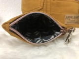 Cognac farbene Upcycling Jeans Tasche mit kleiner Tasche Herbst Recycling