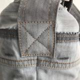 MOD Upcycling Shopper, Jeans Umhängetasche, silbergrau, Crossbody AichelBag