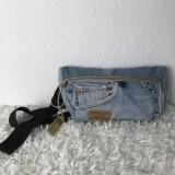 Crossbody, Hüfttasche, Leckerlitasche aus Upcycling Jeansstoffen, Bauchtasche, Gürteltasche
