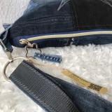 Farbenmix Upycyling Jeanstasche, Tasche aus Jeans, Sternmotiv